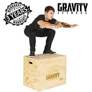 Gravity Fitness, scatola pliometrica 3in 1da 76,2x 50,8x 61cm, per crossfit