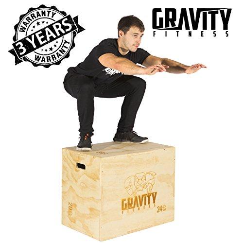 Gravity Fitness 3-in-1Plyometrischer Sprungkasten / Jump Box, 76,2x 50,8x 61cm, für Crossfit - Gravity Box