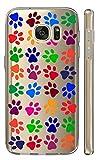 Samsung Galaxy J7 2017 J730 Softcase Cover Backkover TPU Schutzhülle Slim Case (2087 bunte Pfoten)