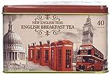New English Teas Memorabilia Range Vintage England 40 Teabag Tin 80 g