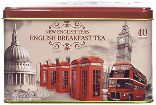 New English Teas Memorabilia Range Vintage England 40 Teabag Tin 80 g