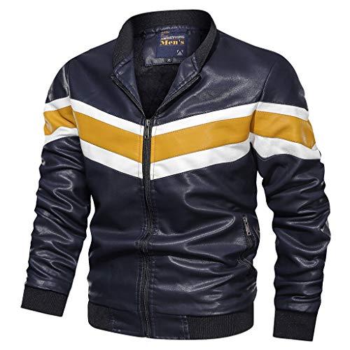 Giacca di Jeans Giacche Moto Cardigan Giacca Smoking da Uomo Formale Giacca Vestito Smoking Smoking Cardigan Blazer Uomo Abito Top Outwear Uomo Top Sportivo (XL,1- Blu)
