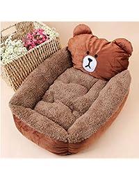 FinGo Cama para Mascotas Tela de Cachemira Casa de Perro Four Seasons Universal Confort Suave Respaldo y Duradera Cama para…