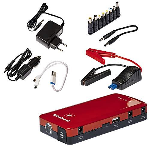 Einhell Auto-Starthilfe CC-JS 12 (3 x 3700 mAh, Starthilfe & Energiestation, mobile Stromversorgung, Ladezustandsanzeige, Starthilfeset, inkl. Adapter)