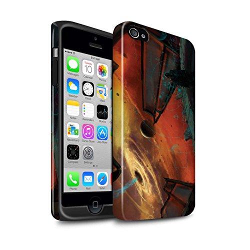 Offiziell Chris Cold Hülle / Glanz Harten Stoßfest Case für Apple iPhone 4/4S / Pack 6pcs Muster / Galaktische Welt Kollektion Schwarzes Loch