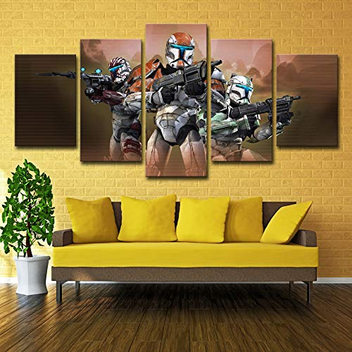Modern Canvas Painting Home Decor For Living Room Framework 5 Pieces Star Wars Poster Modern Hd Prints Movie Characters no frame XL: 14X21-2P  14X28-2P 14X35-1P -