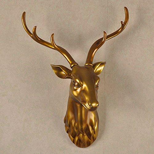 Su @ da parete testa di cervo/continentale/creativo/Home decorazione da parete/portico/Artigianato/Bar/Club/Ristorante/ciondolo/parete/43* 23* 62 ancient gold 43*23*62cm Gold