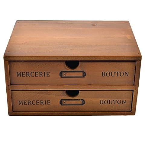 Coffre de rangement tiroir, hipsteen Boîte de rangement en bois 3tiroirs bureau bureau Organiseurs de tiroir Pin de Nouvelle-Zélande