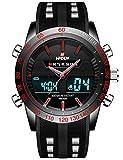 Homme ado Digital analogique montres de sport pour hommes imperméable électronique LED militaire Big Face montre numérique avec chronomètre pour homme armée chronographe multifonction Noir