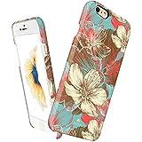 Funda fina para iPhone 6 Plus / 6s Plus, Línea Vintage Obsession de Akna®, Funda rígida fina de alto impacto con forro de tela suave para iPhone 6 Plus & 6s Plus[Hand drawing Floral]