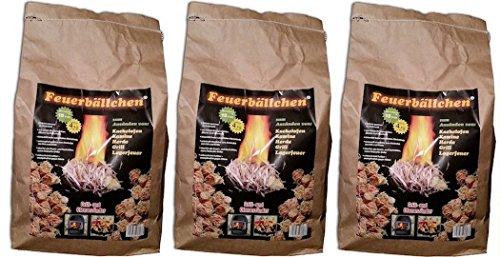 Preisvergleich Produktbild Feuerbällchen Anzünder,  Braun,  (12 Kg)