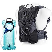 Overmont 10I Wasserdicht Fahrradrucksack Trinkrucksack mit 2I Trinkblase Trinkbeutel BPA-frei für Wandern Klettern Radsport Camping Trekking Outdoor Sports
