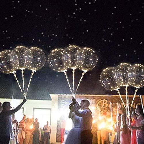 Bumen LED leuchten Party Glow in The Dark Luftballons Party Dekrationen für Weihnachten, Feier, Geburtstag, Hochzeit usw 1 PCS Glitter Ballons Modellierballons Luft-Ballon Premium Latex