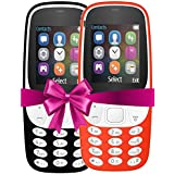I KALL 4.57 Cm (1.8 Inch) Mobile Phone Combo - K3310 (Black& Red) With Feature Of Currency Detector