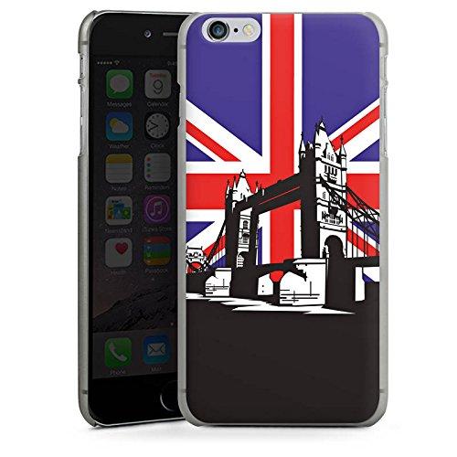 Apple iPhone X Silikon Hülle Case Schutzhülle London Großbritannien Tower Bridge Hard Case anthrazit-klar