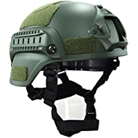 haoyk mich 2000estilo táctico para Airsoft y Paintball casco con NVG montaje y carril lateral para Airsoft Paintball, OD