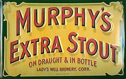 MURPHYS EXTRA STOUT Prägedruck, Pub-Schild im Vintage-Stil, Metall