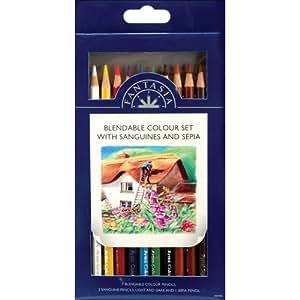 Pro-Art Wood Pro Art Fantasia Colored Pencils 10 kg-Blendable