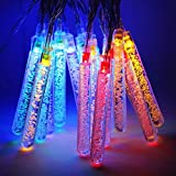 Glimmer Lightings Pack Of 2 Quirky Test Tube Bubble Led String Lights 1 Meter 10 Tubes Multi Colour With Set Of 3 Battery In Each String