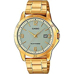 CASIO MTP-VS02G-9A - Reloj de caballero analógico. Dorado. Solar