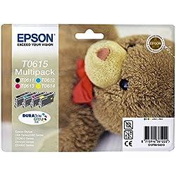 Epson - C13T06154010 - Multipack d'origine T061 Cartouche Noire + 3 couleurs pour D68 88 88PE DX3850 4250 4850