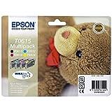 Epson Original T0615 Teddybär, wisch- und wasserfeste Tinte (Multipack, 4-farbig) (CYMK)