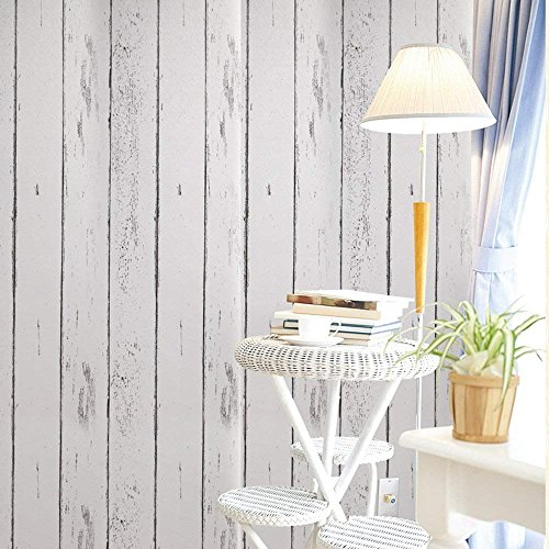 Deko Weiß Holz Getreide Kontakt Papier Selbstklebende Rückseite Regalen schälen und Stick Tapete...