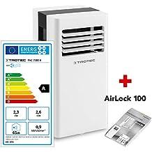 TROTEC Lokales mobiles Klimagerät Klimaanlage PAC 2300 X mit 2,3 kW / 8.000 Btu (EEK:A) 3-in-1-Klimagerät: Kühlung, Ventilation, Entfeuchtung / Inkl. intelligentem Recyclingsystem - Kondenswasser muss nur sehr selten ausgeleert werden - Inkl. Fensterabdichtung AirLock 100