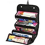 SHOPPOWORLD Roll N Go Travel Buddy Toiletry Bag Organizer (Black, Standard)