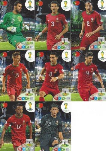 FIFA World Cup 2014 Brazil Adrenalyn XL Portugal Base Card Team Set -