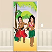 Amscan International Photo Door Poster Hula Dancing Hawaiian
