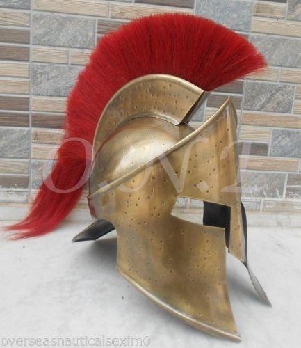 ANTIQUENAUTICAS Spartan 300 Film König Leonidas mittelalterlichen Helm Griechischen Liner Reenactment Geschenk Spartan (Eishockey-helm-liner)