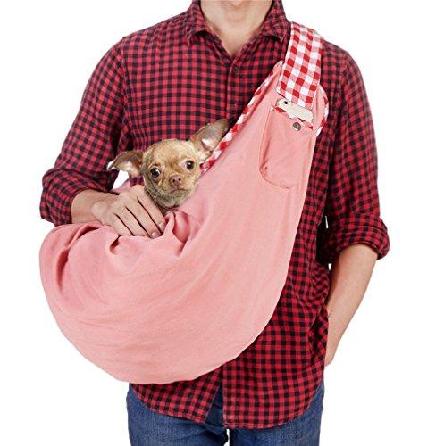 wendbar Pet Tragetuch Freisprecheinrichtung Sling Haustier Hund Katze Tasche angenehm weiches Puppy Kitty Rabbit doppelseitig Tasche Schulter tragen Tote Handtasche (Tote Bag Tragen)