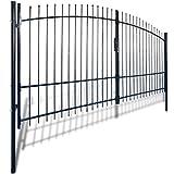 vidaXL Cancello modulare doppio in metallo verniciato con frecce 400 x 225 cm