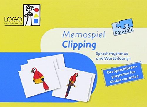 """KonLab Die Wortfabrik. Sprachrhythmus und Wortbildung 1 """"Clipping"""". Lernspiel: Memospiel"""