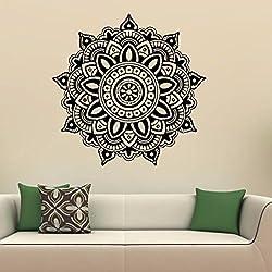 Pared de Etiqueta, RETUROM Etiquetas engomadas india de la pared del hogar del dormitorio de la flor de la mandala del nuevo estilo