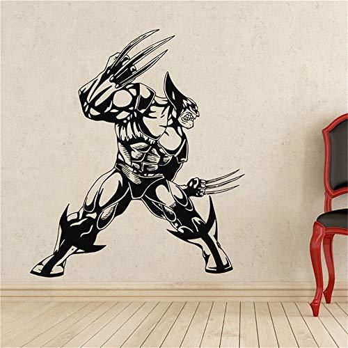 wandaufkleber 3d Wandtattoo Schlafzimmer Wolverine Superhero Sticker Aufkleber für Wohnzimmer Schlafzimmer im Wohnzimmer (Wolverine Wandtattoo)