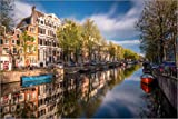 Poster 60 x 40 cm: Amsterdam im Herbst von Dennis Fischer -