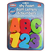 Ozmoint Toddler Bath foam Letters and Numbers 36 pieces