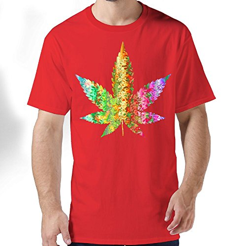 George Oy Marijuana Tie Dye Weed Men's T-Shirt Short Sleeve Crew Neck Casual O-Neck Tees For Adults Men (Tie Dye Terry)