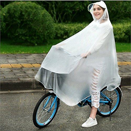 Zcx Regenmantel Adult Waterproof Regenmantel Herren Outdoor Riding Poncho Student Fahrrad Elektro Transparent Poncho Double-Faced Regenmantel (Farbe : Scrub White, größe : XXXL) - White Scrub-jacke
