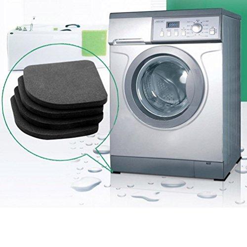 Gugutogo 4 pcs Washer Shock Slip Mats Reducing Refrigerator Anti-vibration Noise Pad