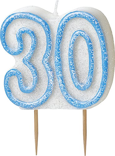 bling-party-decorations-and-tableware-for-30th-birthday-in-blue-glitz-sparkle-30-candle