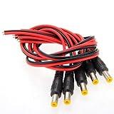 SODIAL(R) 5x DC Cavi Connettori Adattatori Spine Maschio 2,1x5,5mm per CCTV Videocamera
