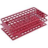 Heathrow Scientific HD27551D - Gradilla para tubos de ensayo (polipropileno, tamaño completo, 104 x 202 x 59 mm, 13 mm), color rojo