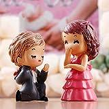 Día de la novia y el novio deshierbe Mini Figuras terrario Miniaturas Mini decoración del jardín de San Valentín