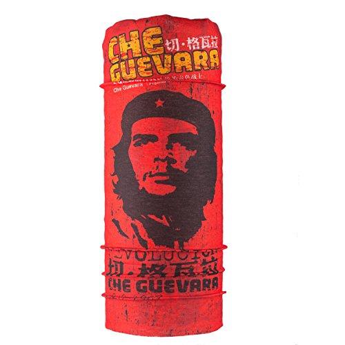 Autofy Unisex Che Guevara Lycra Headwrap Bandana for Bikes (Red, Free Size)