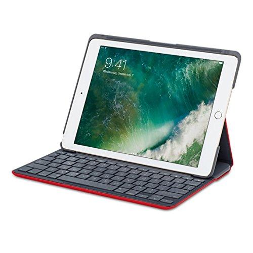 Logitech Segeltuch-Tastatur-Kasten-Abdeckung für iPad Luft - Rot Ipad Air Logitech Keyboard Case