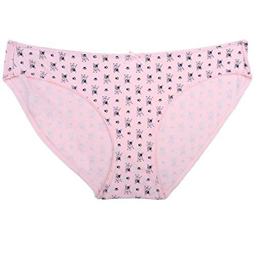 Zegoo Damen Bikini Panty Verschiedene Unterwäsche Hipster 6er Pack - Mehrfarbig - XX-Large - 4