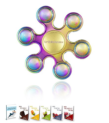 Tri Spinner Fidget Hand Spinner Finger Toy for ADHD//ADD//Anxiety//Autism//Stress